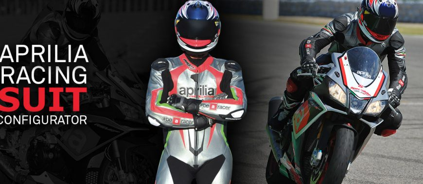 Customise your leathers using the Aprilia Racing Suit Configurator