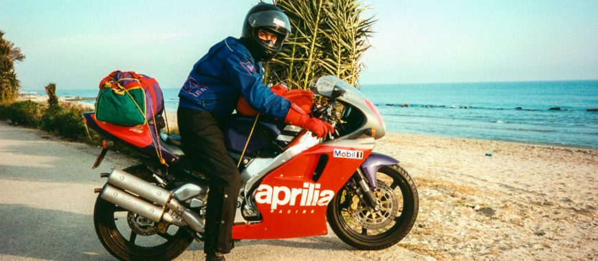 The RS 250 and that crazy trip from Noale to Sicily in '94 to test the bike
