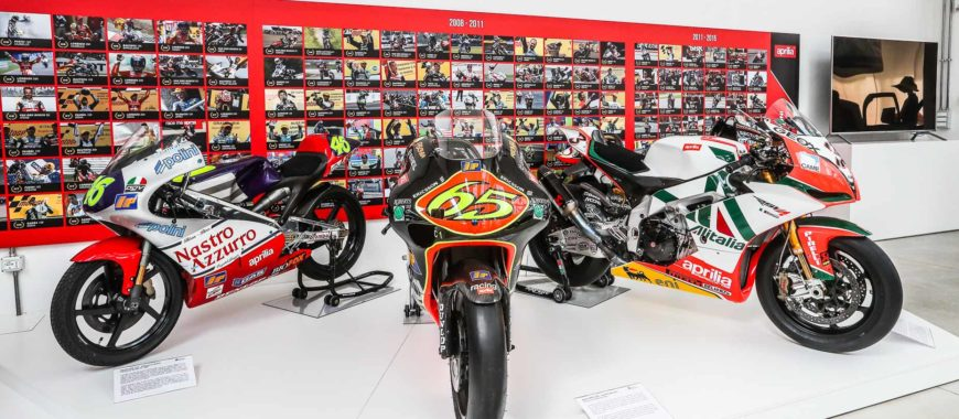 All the Aprilias that have made history now on display in the Piaggio Museum